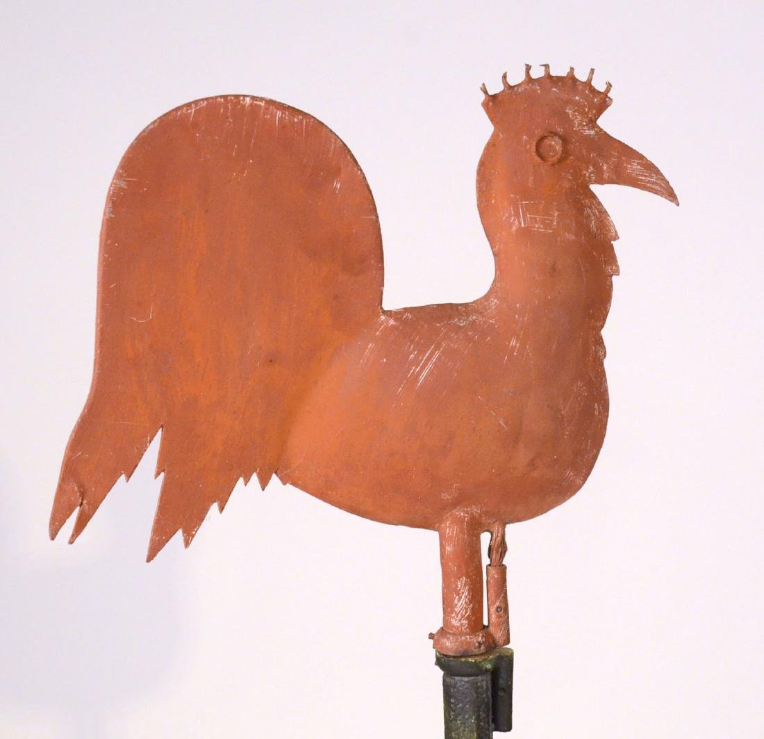 Red Painted Copper Weathervane - 5