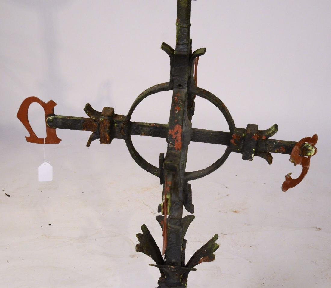 Red Painted Copper Weathervane - 6