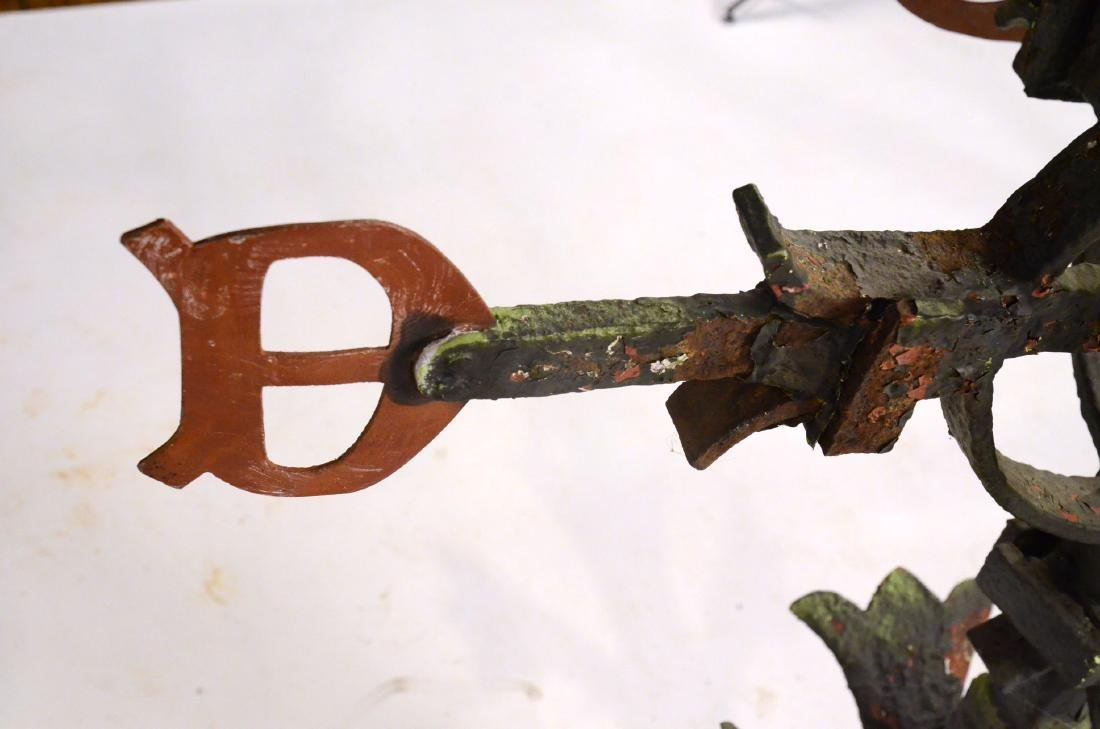 Red Painted Copper Weathervane - 7