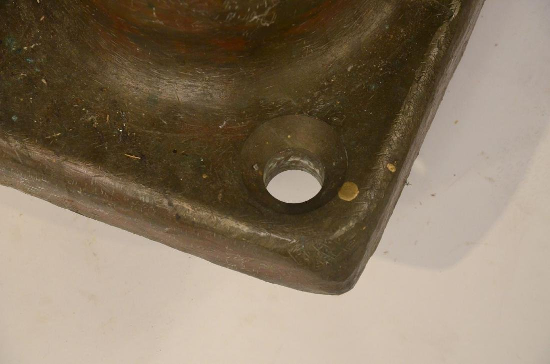 Two Large Brass Nautical Cleats - 3