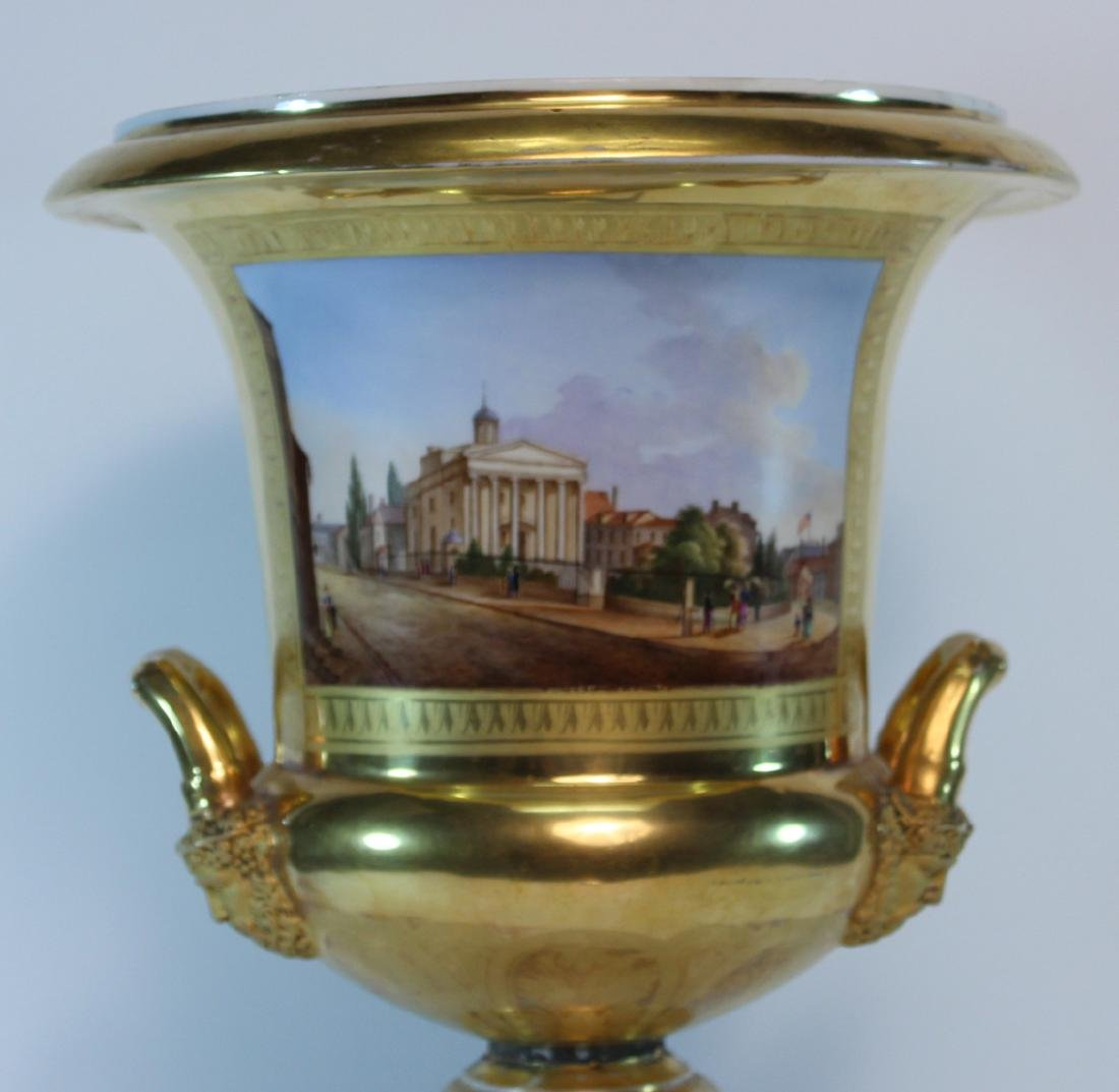 Parcel-Gilt Paris Porcelain Double-Handled Urn - 2