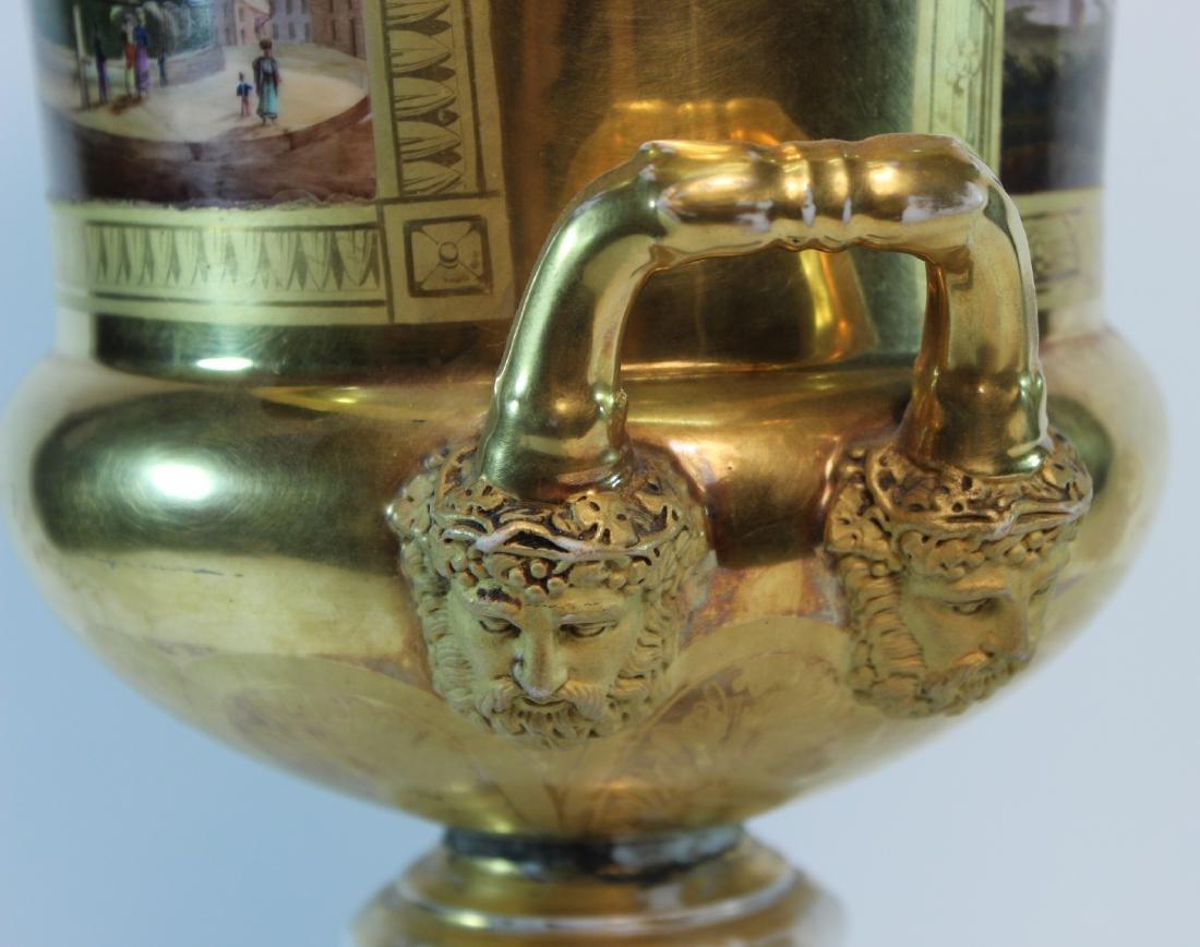 Parcel-Gilt Paris Porcelain Double-Handled Urn - 6
