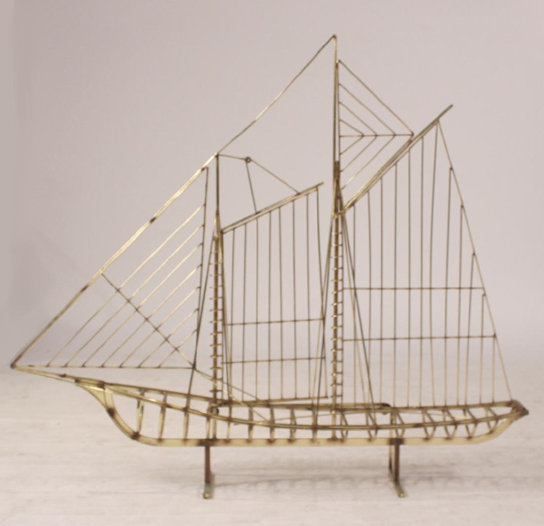 Brass Model of Sail Boat