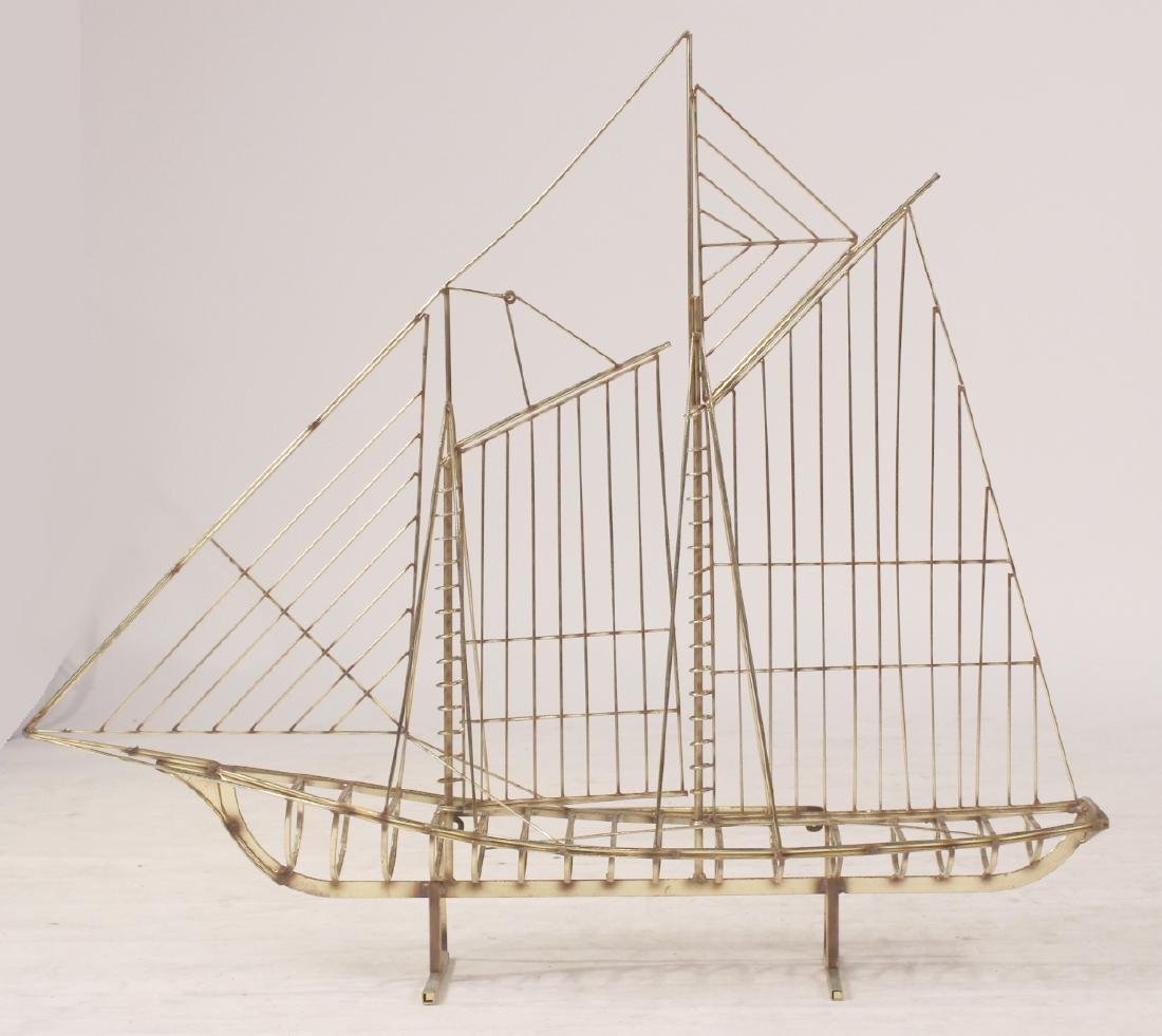 Brass Model of Sail Boat - 2