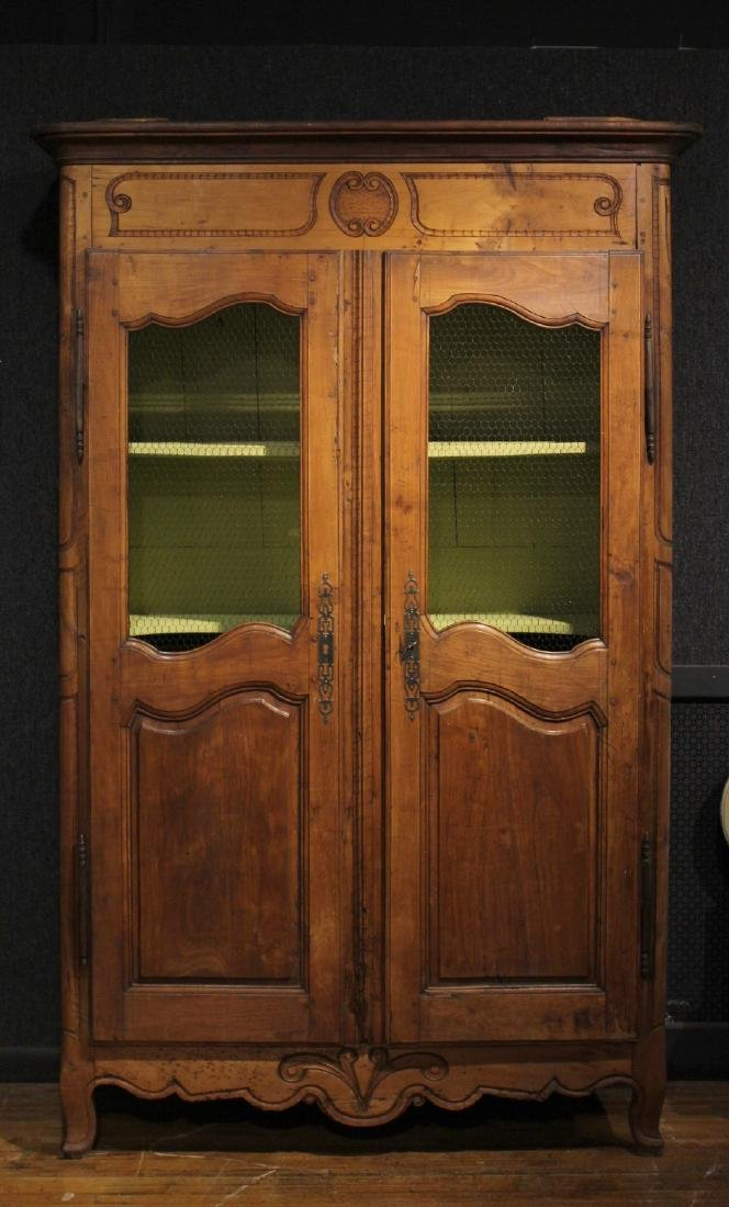 Provincial Carved Cherrywood Armoire