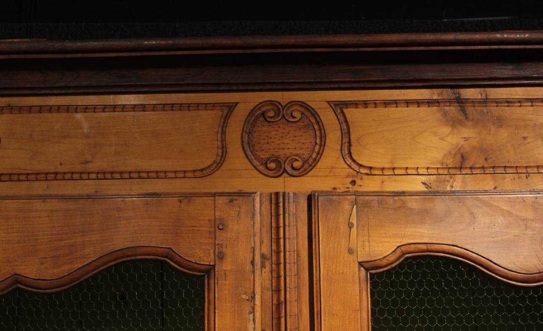Provincial Carved Cherrywood Armoire - 2