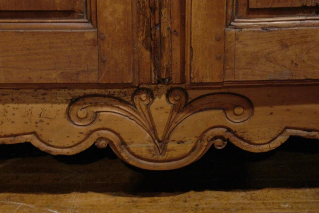 Provincial Carved Cherrywood Armoire - 4