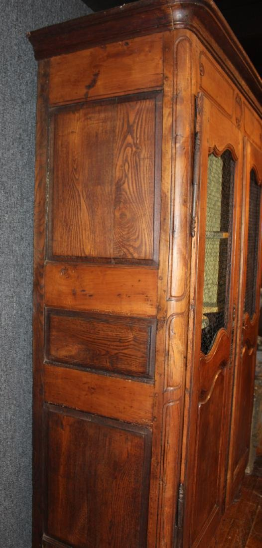 Provincial Carved Cherrywood Armoire - 7
