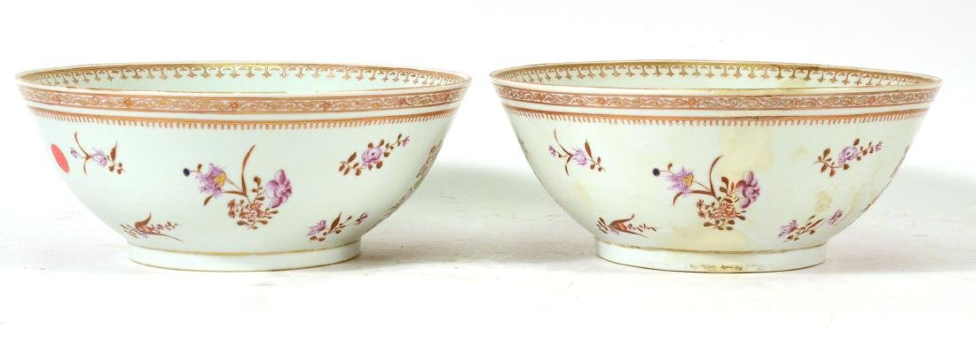 Two Chinese Porcelain Punch Bowls