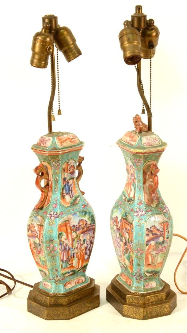Pair of Chinese Porcelain Covered Jars - 4