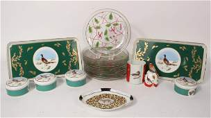 Group of Lynn Chase Porcelain and Glass Articles