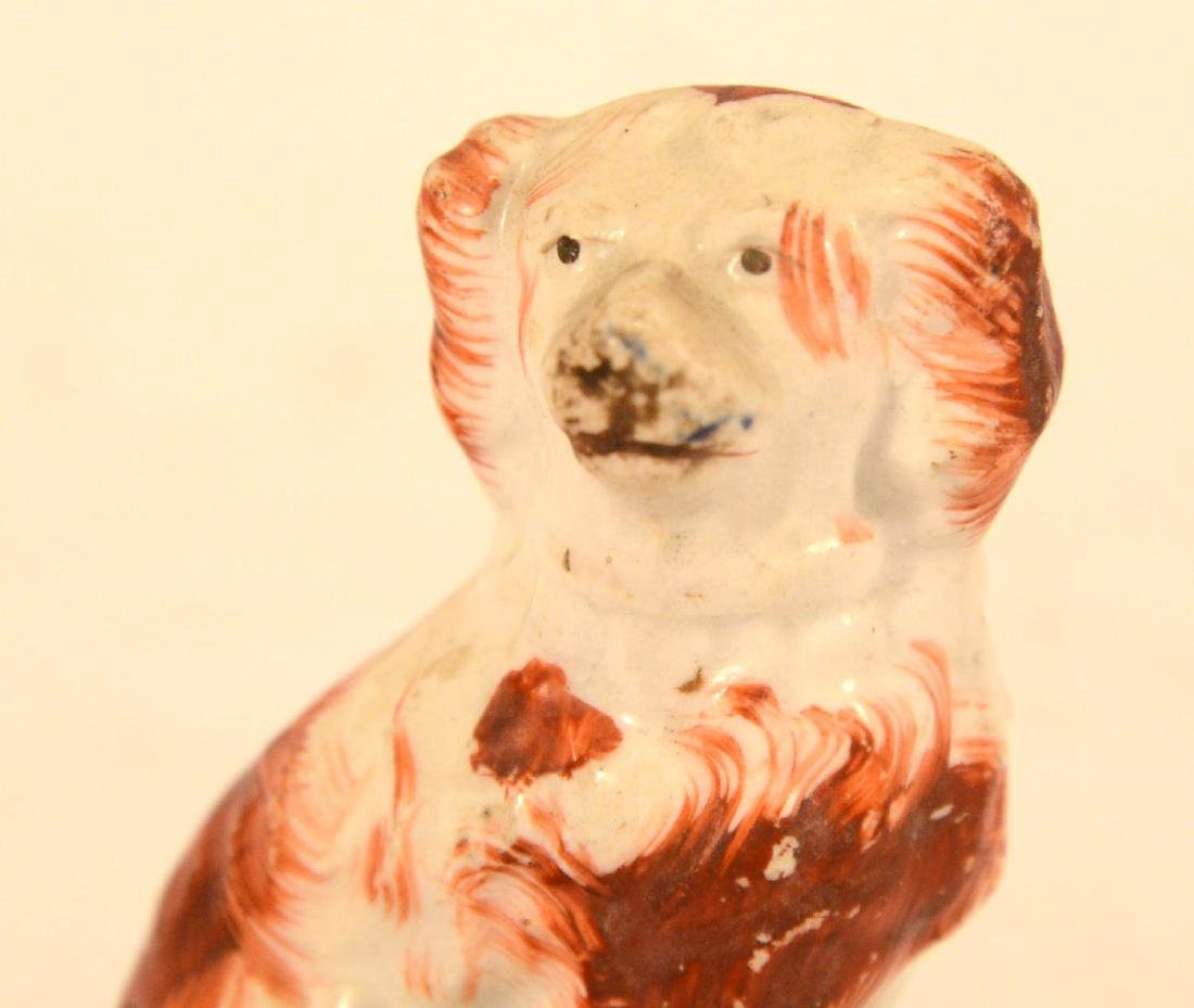 Pair of Miniature Staffordshire Seated Dogs - 10