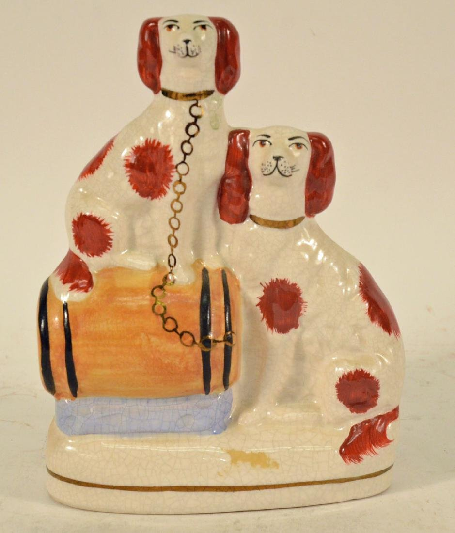 Pair of Miniature Staffordshire Seated Dogs - 3