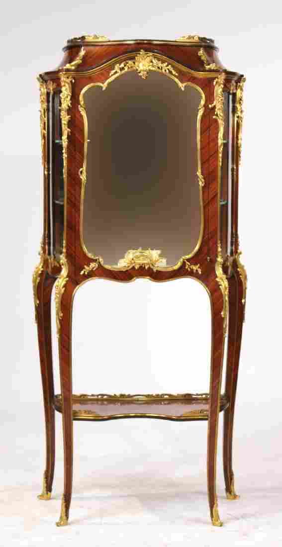 Louis XV Style Ormolu-Mounted Mahogany Vitrine