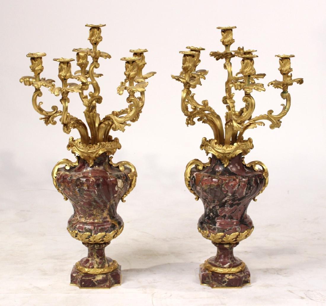 Pair of Louis XV Style Six-Light Candelabrum
