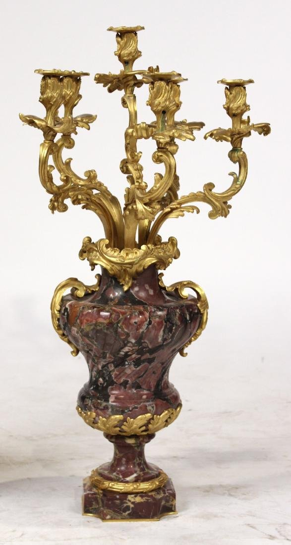 Pair of Louis XV Style Six-Light Candelabrum - 2