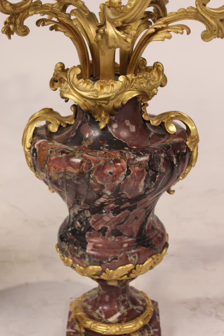 Pair of Louis XV Style Six-Light Candelabrum - 5