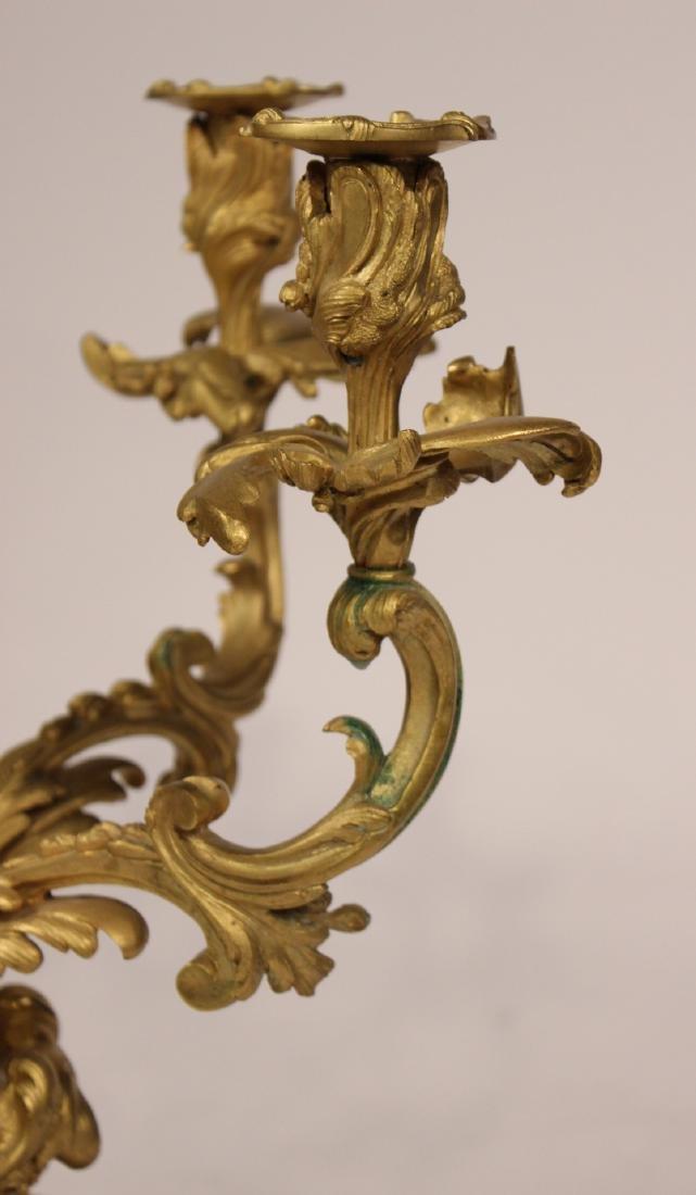 Pair of Louis XV Style Six-Light Candelabrum - 7