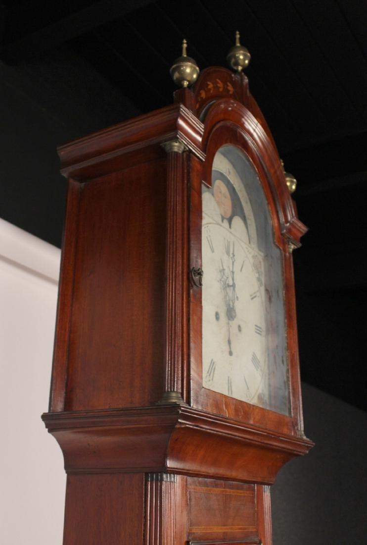 George III Inlaid Mahogany Tall Case Clock - 10
