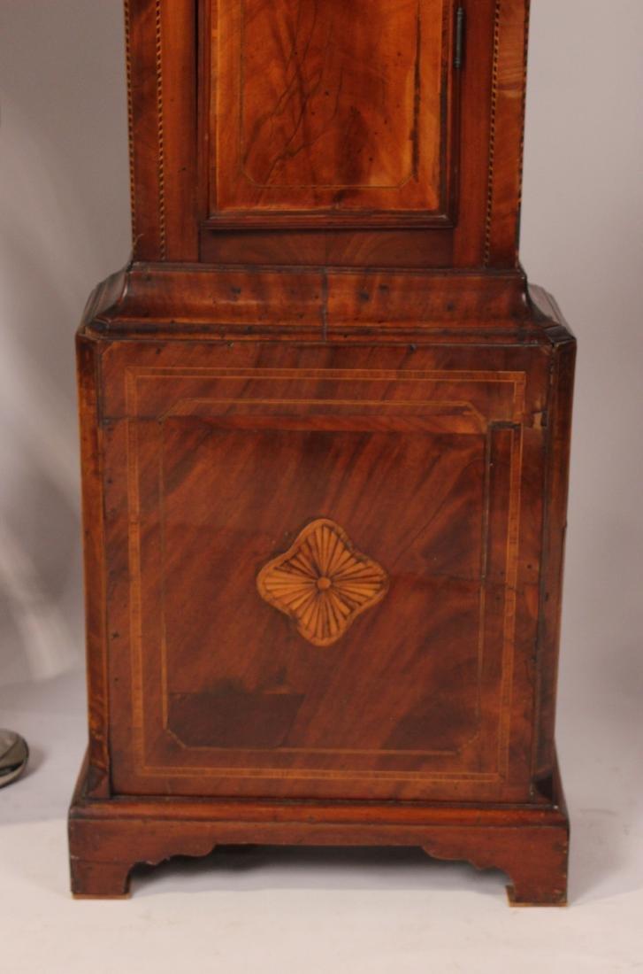 George III Inlaid Mahogany Tall Case Clock - 2