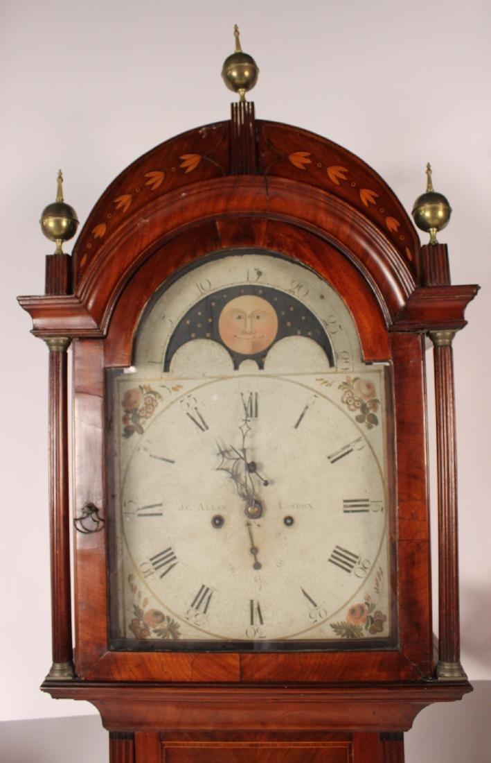George III Inlaid Mahogany Tall Case Clock - 3