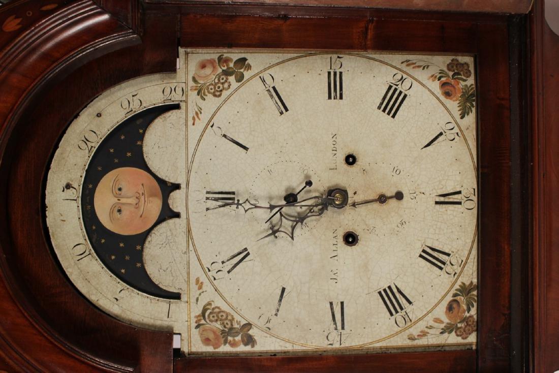 George III Inlaid Mahogany Tall Case Clock - 4