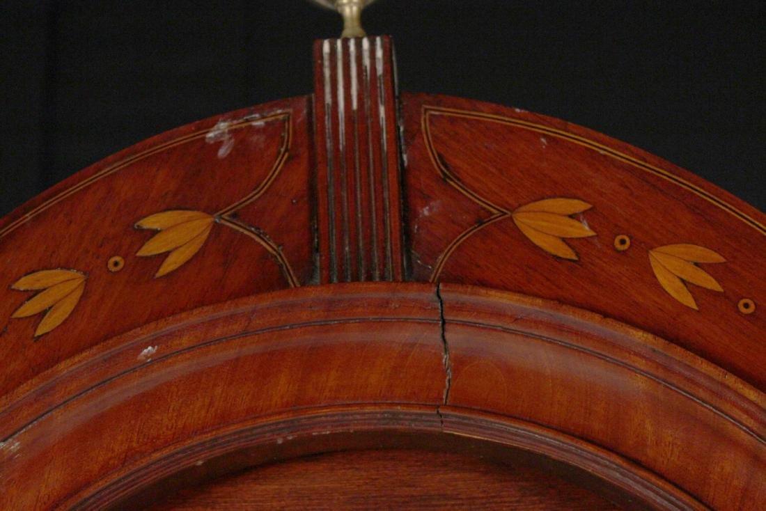 George III Inlaid Mahogany Tall Case Clock - 6