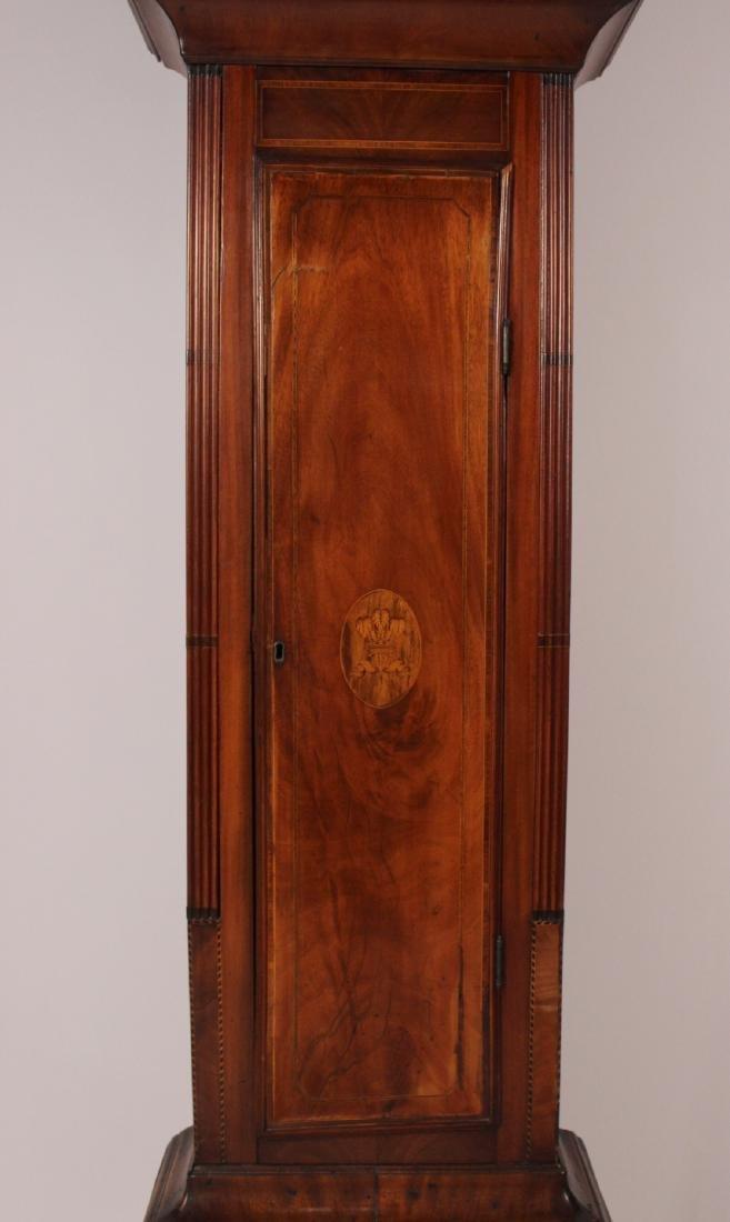 George III Inlaid Mahogany Tall Case Clock - 7