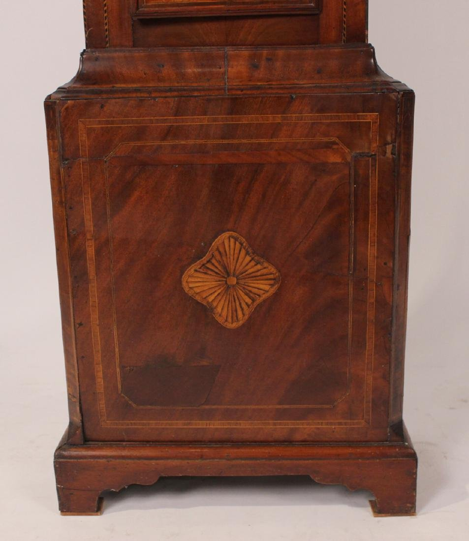George III Inlaid Mahogany Tall Case Clock - 8