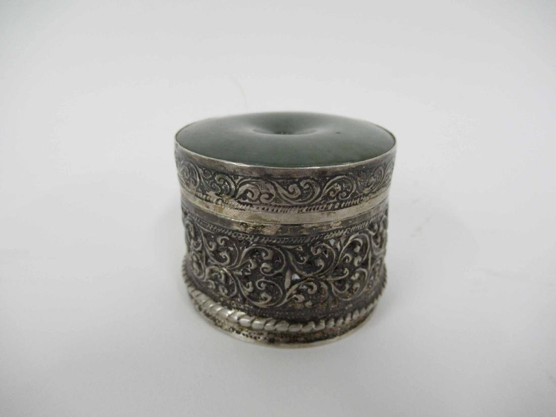 Antique silver sewing box
