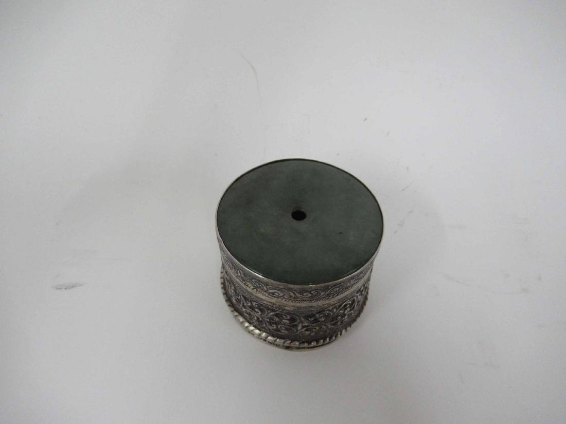 Antique silver sewing box - 2