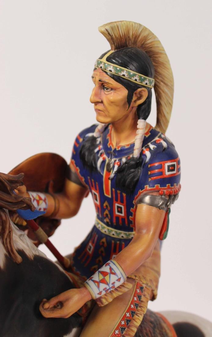 Royal Doulton Porcelain Figure of Indian Brave - 3