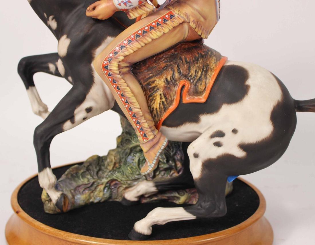 Royal Doulton Porcelain Figure of Indian Brave - 4
