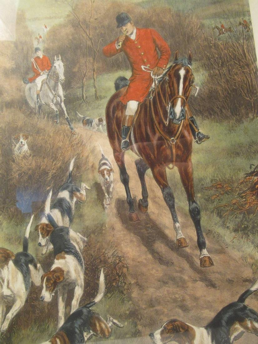 Four Fox Hunting Prints