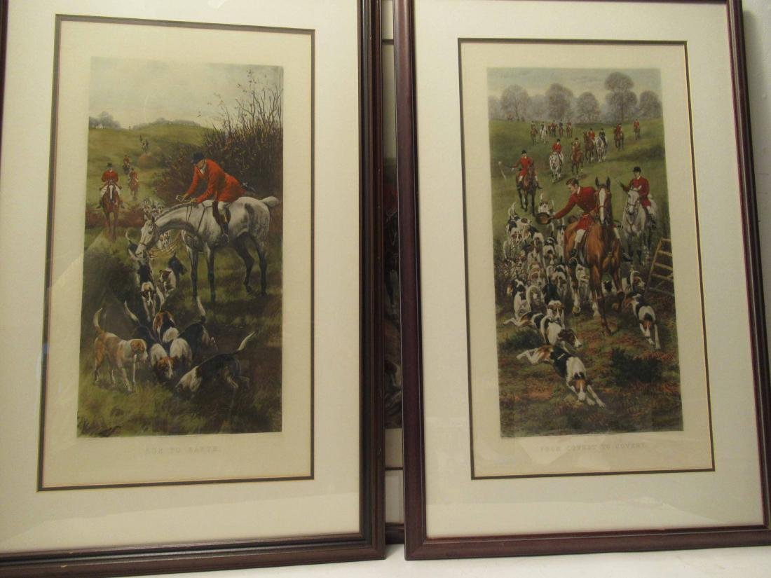 Four Fox Hunting Prints - 5