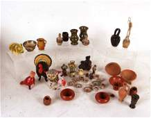 Group of Tin and Glazed Miniature Vases