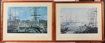 Two Prints of New York Harbors