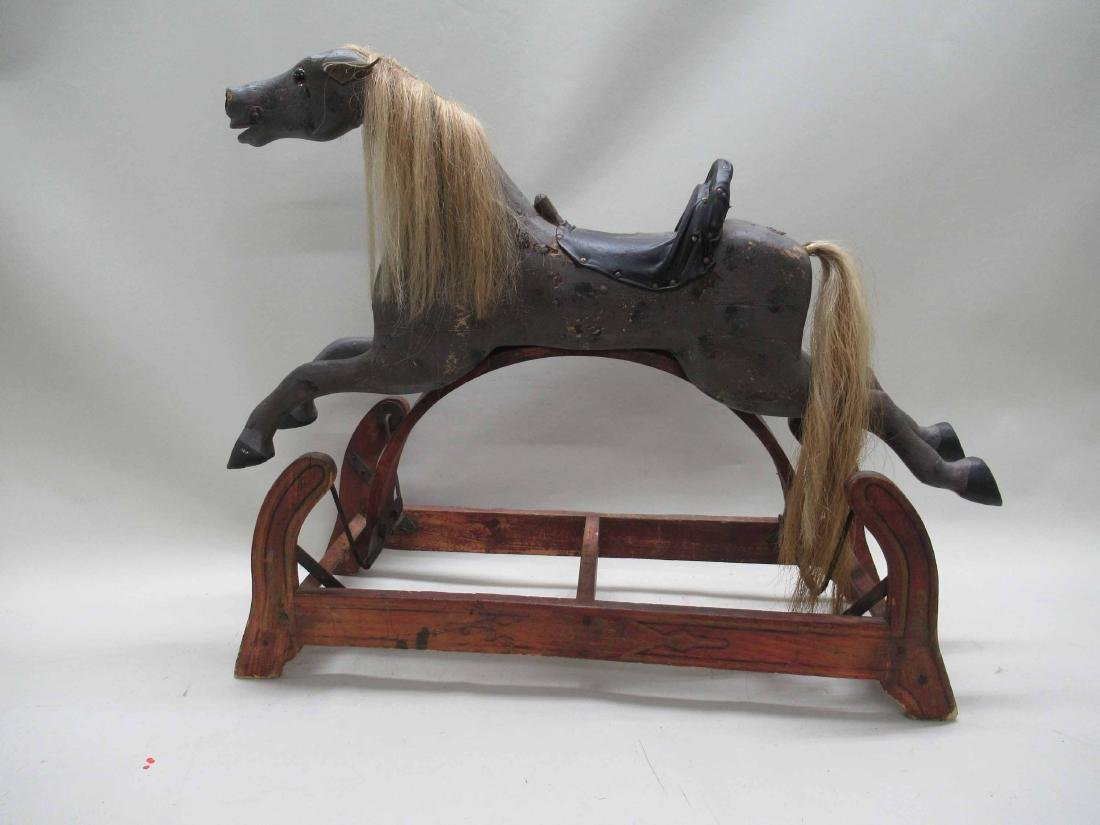 Painted Child's Rocking Horse