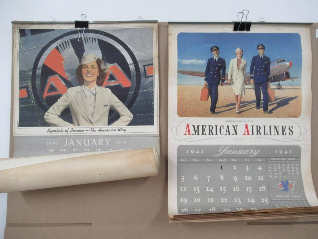 1940, 1941 American Airlines Calendars