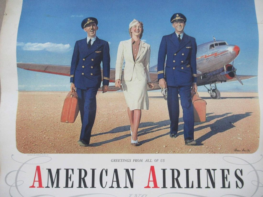 1940, 1941 American Airlines Calendars - 2