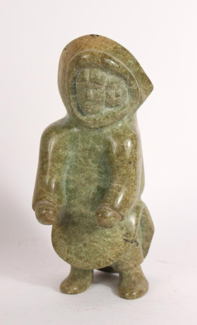 Two Carved Stone Inuit Sculptures - 4