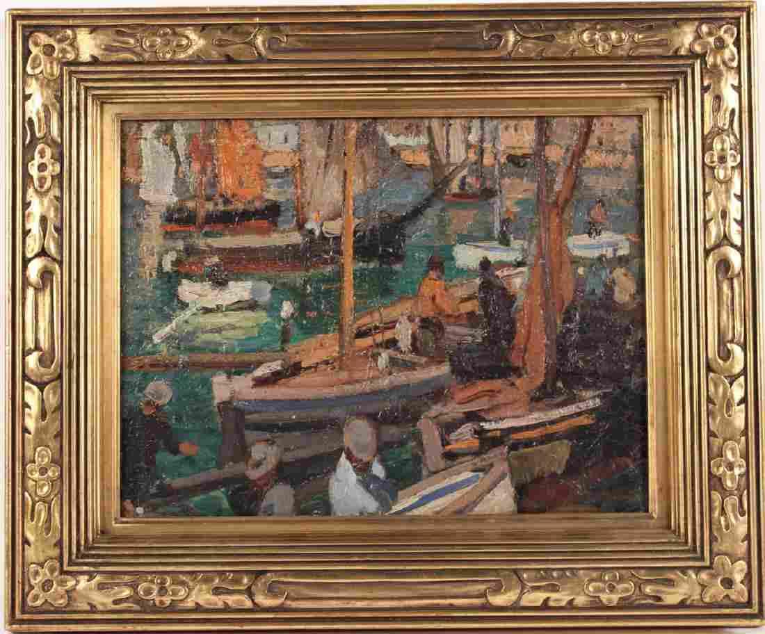 Oil on Board, Waterfront, Jane Peterson