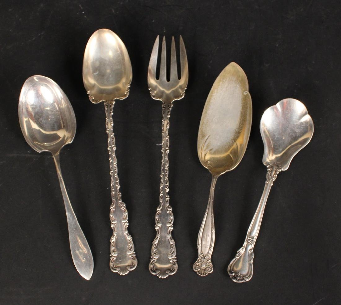 Group of Sterling Silver Flatware Serving