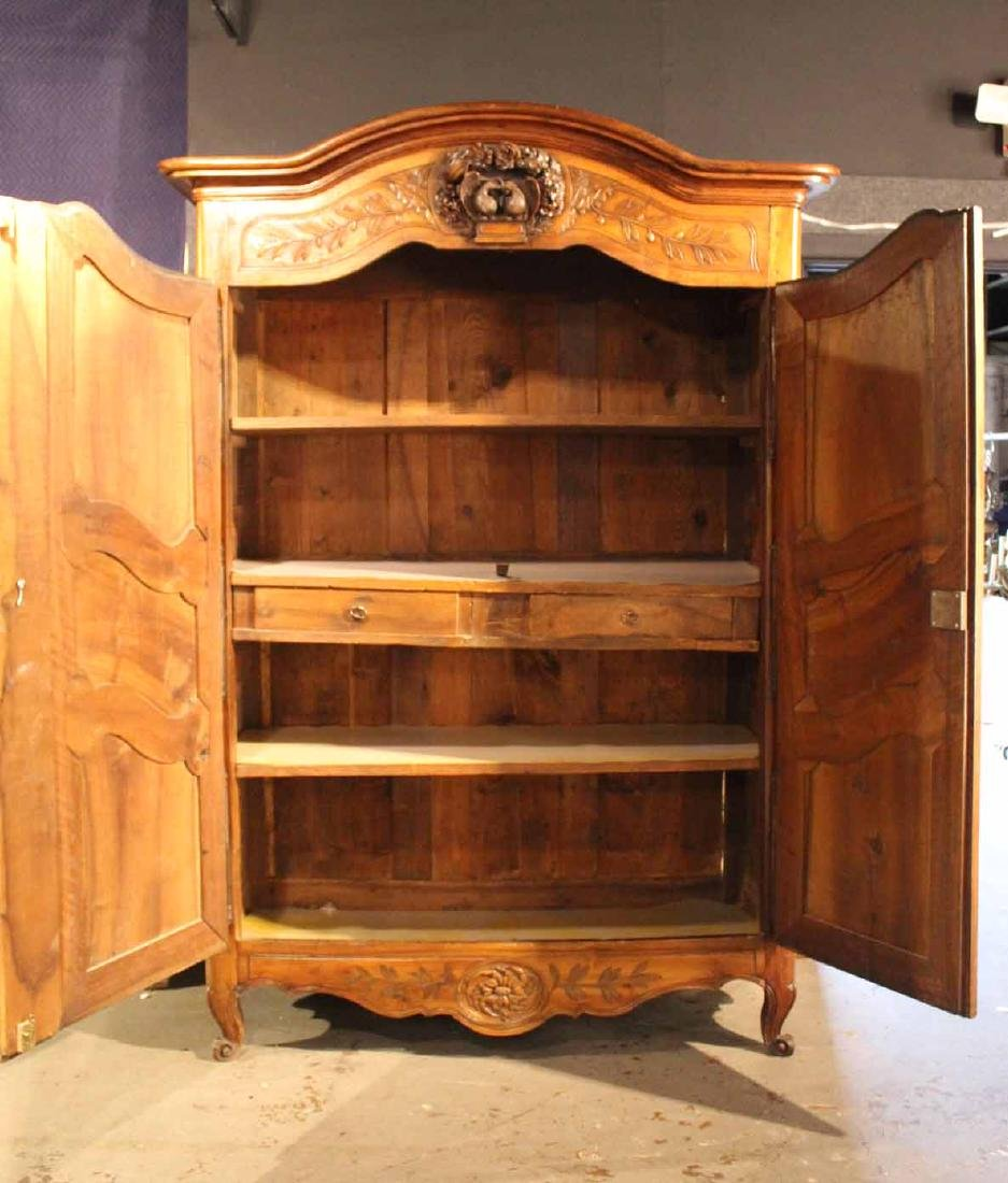French Provincial Cherrywood & Walnut Armoire - 8