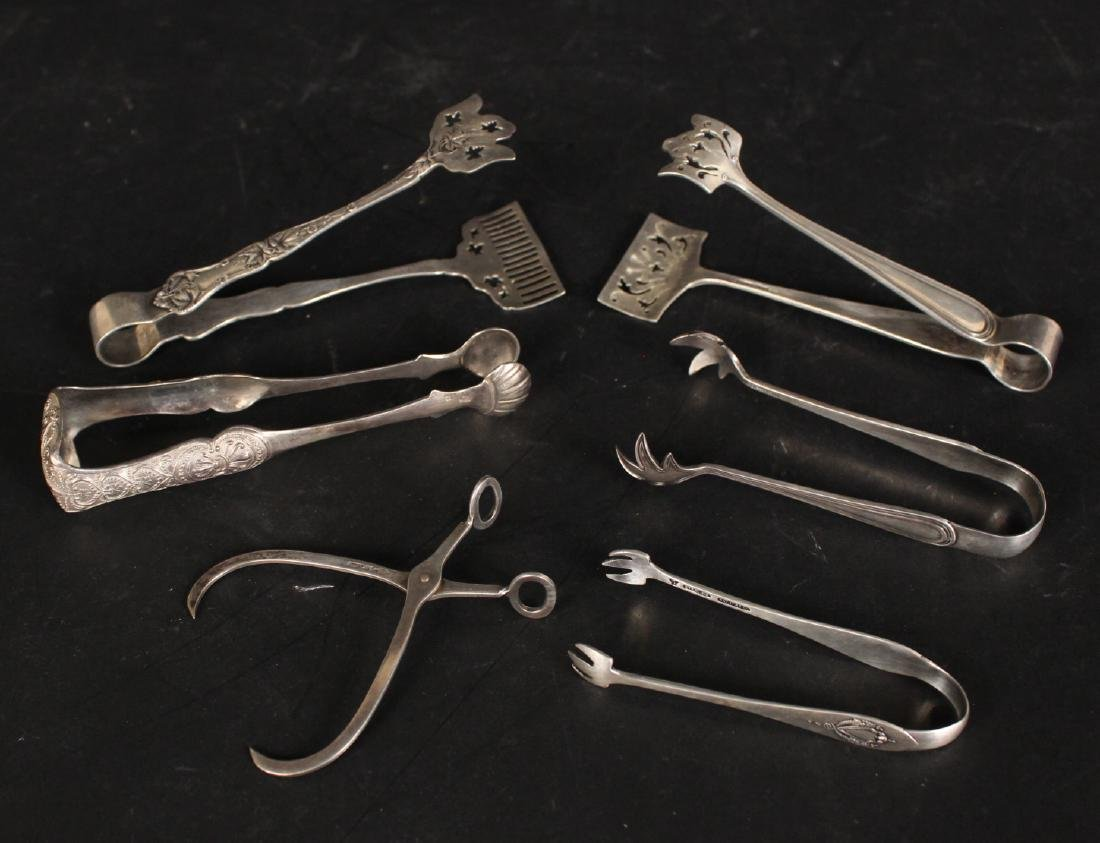 Group of Sterling Silver Tongs
