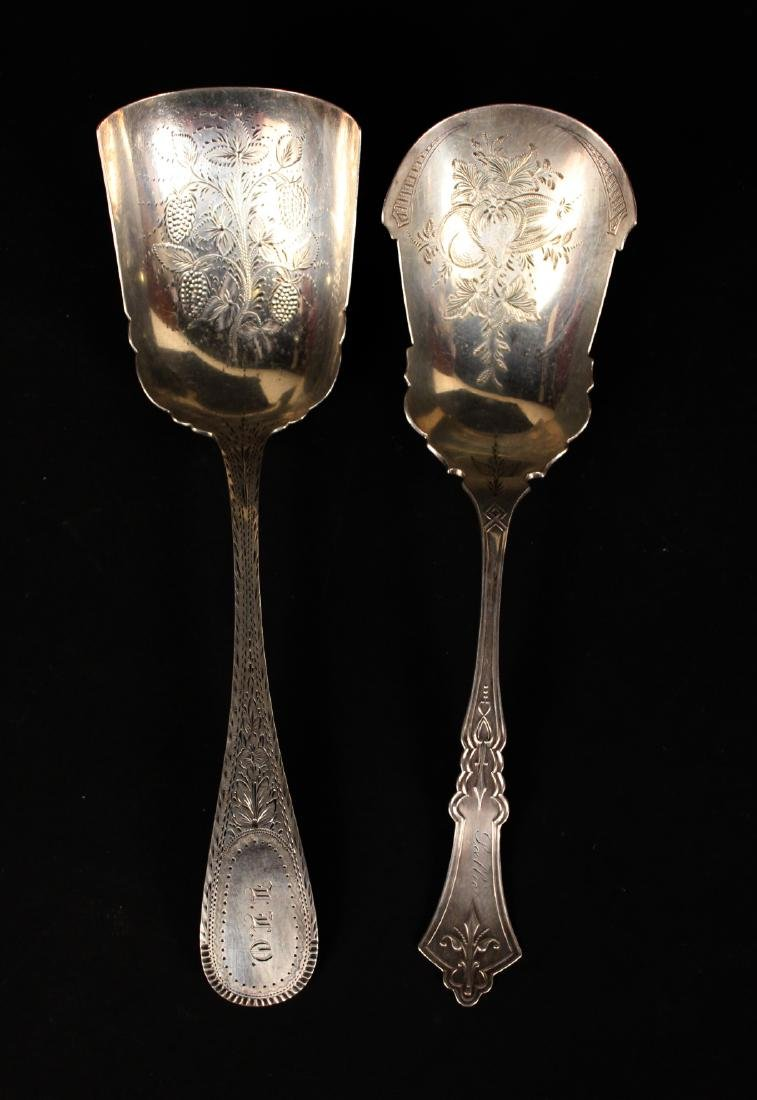 Four Victorian Silver Flatware Serving Pieces - 2