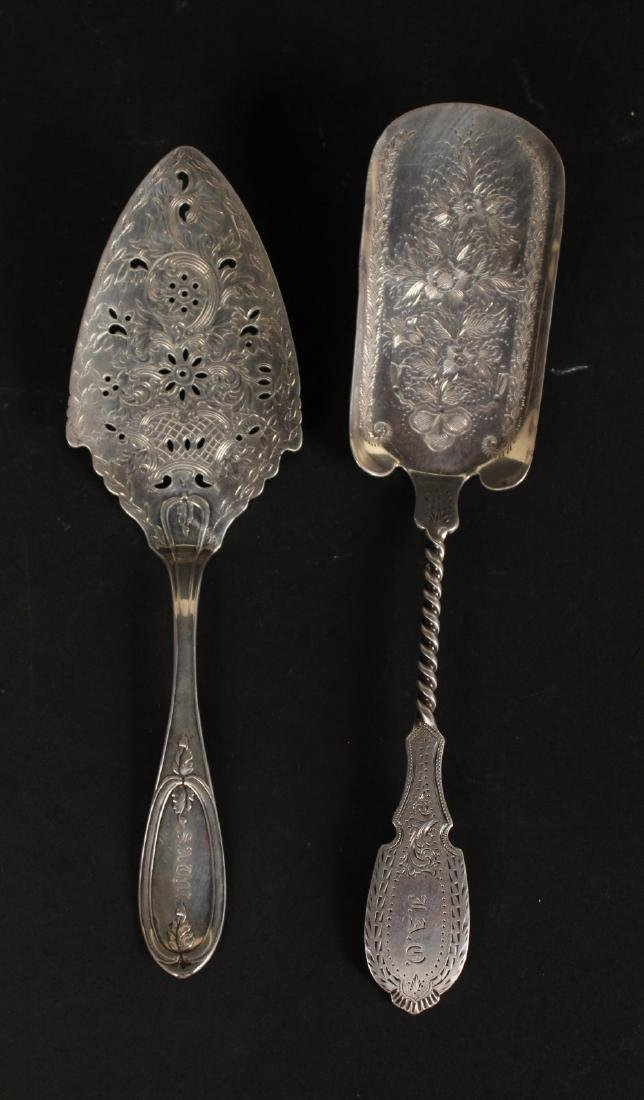 Four Victorian Silver Flatware Serving Pieces - 3