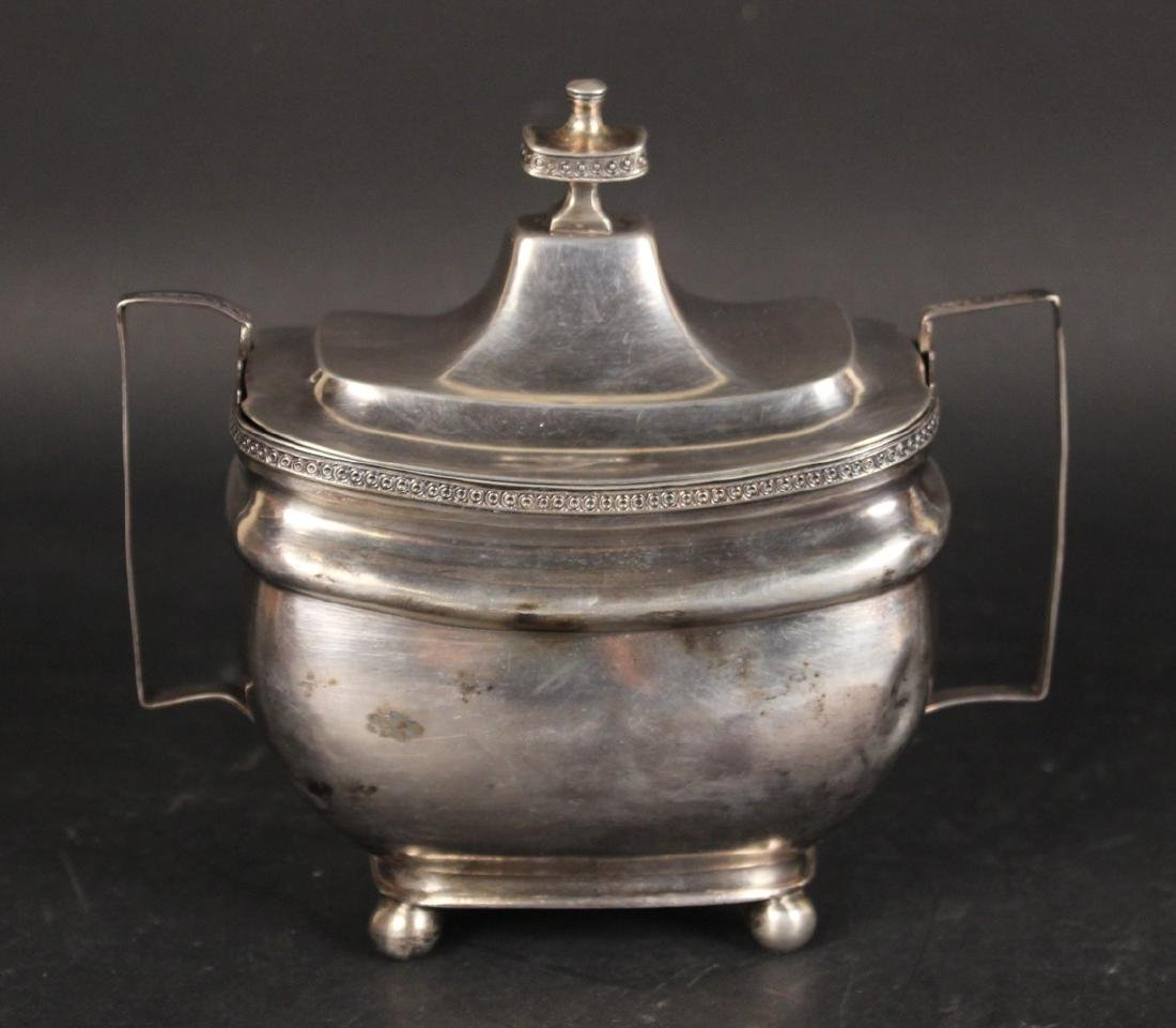 Unmarked American Coin Silver Sugar Bowl