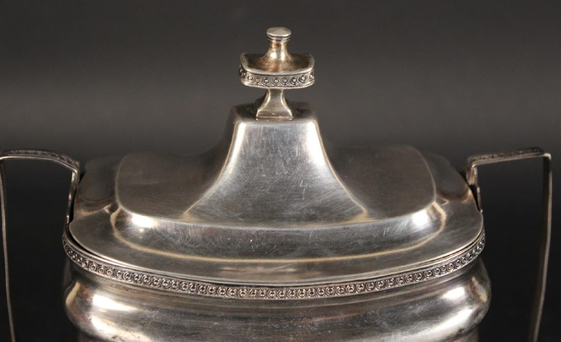 Unmarked American Coin Silver Sugar Bowl - 2