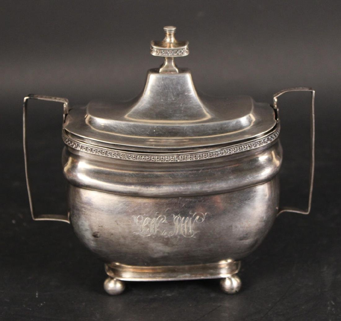 Unmarked American Coin Silver Sugar Bowl - 5